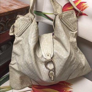 Jessica Simpson Faux Snake Print Shoulder Bag